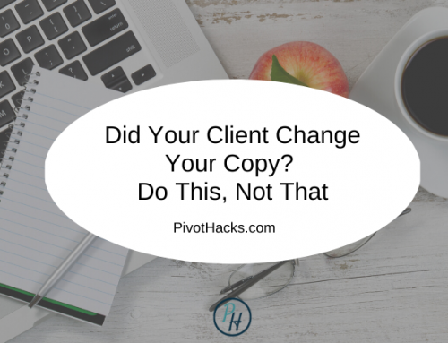 Did Your Client Change Your Copy? Do This, Not That